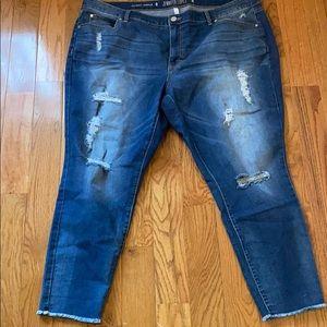 Jennifer Lopez ankle jeans distressed